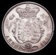 London Coins : A164 : Lot 1123 : Halfcrown 1820 George IV ESC 628, Bull 2357, A/UNC with an edge fault or flaw at 4 o'clock on t...