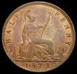 London Coins : A164 : Lot 1166 : Halfpenny 1873 Freeman 311 dies 7+I, A/UNC with traces of lustre, the obverse with a thin scratch in...