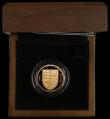 London Coins : A164 : Lot 118 : One Pound 2008 Royal Shield of Arms Gold Proof S.J27 FDC in the Royal Mint box of issue with the cer...