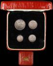 London Coins : A164 : Lot 1196 : Maundy Set 1903 ESC 2519, Bull 3609 GEF to UNC with matching tone, the Threepence with some edge nic...