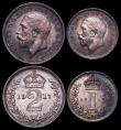 London Coins : A164 : Lot 1203 : Maundy Set 1917 ESC 2534, Bull 3977 EF to A/UNC with matching tone, the Penny with some light spots