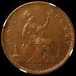London Coins : A164 : Lot 1258 : Penny 1861 Freeman 33 dies 6+G in an NGC holder and graded MS61 BN