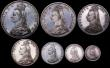 London Coins : A164 : Lot 126 : Proof Set 1887 Silver Set (7 coins) Crown, Double Florin (Arabic 1), Halfcrown, Florin, Shilling, Si...
