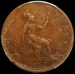 London Coins : A164 : Lot 1263 : Penny 1865 5 over 3 Freeman 51, dies 6+G in a PCGS holder and graded AU53