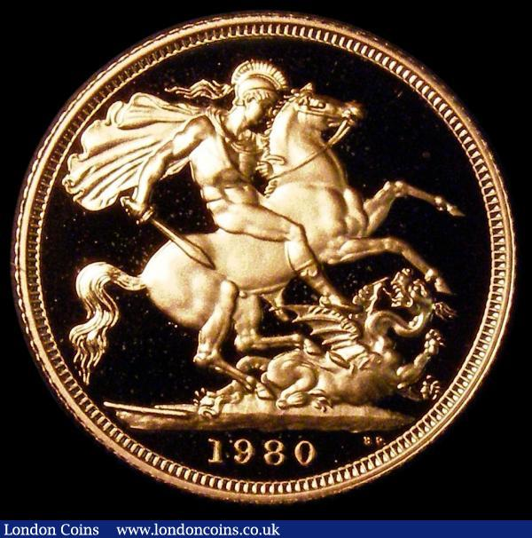 Sovereign 1980 Proof FDC cased as issued with certificate : English Cased : Auction 164 : Lot 164