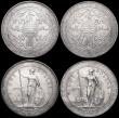 London Coins : A164 : Lot 1658 : Trade Dollars (3) 1908B KM#T5 GVF, 1909B KM#T5 GVF, 1911B KM#T5 VF