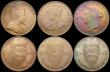 London Coins : A164 : Lot 1697 : Channel Islands (6) Guernsey (3) 8 Doubles 1920H S.7214A Lustrous UNC, 1 Double 1911H S.7217 (2) bot...