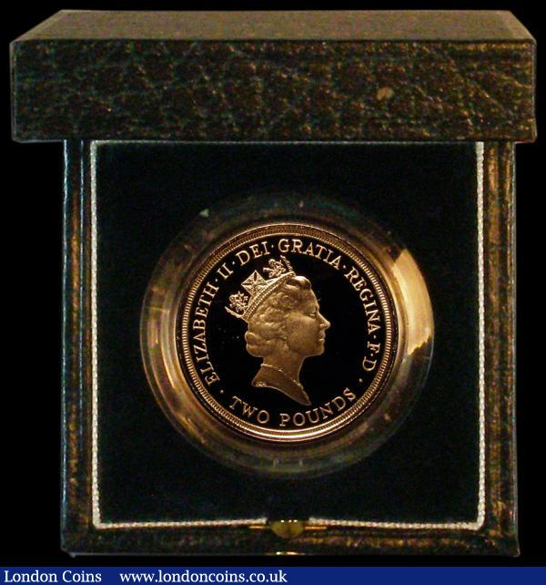 Two Pounds 1986 Commonwealth Games Gold Proof S.K1 FDC in the Royal Mint box of issue with certificate : English Cased : Auction 164 : Lot 188