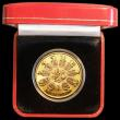 London Coins : A164 : Lot 243 : Isle of Man Crown 2006 Queen Elizabeth II 80th Birthday Trimetallic Gold Proof with Diamond inset (c...