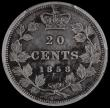 London Coins : A164 : Lot 321 : Canada 20 Cents 1858 KM#4 in a PCGS holder and graded Residue - XF details