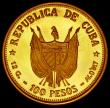London Coins : A164 : Lot 335 : Cuba 100 Pesos 1977 Carlos Manuel de Cespedes Gold Proof KM#43 UNC retaining much original mint lust...