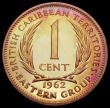London Coins : A164 : Lot 350 : East Caribbean States - British Caribbean Territories 1 Cent 1962 VIP Proof/Proof of record KM#2 nFD...