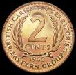 London Coins : A164 : Lot 352 : East Caribbean States - British Caribbean Territories 2 Cents 1962 VIP Proof/Proof of record KM#3 nF...