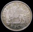 London Coins : A164 : Lot 357 : Ethiopia Gersh EE1891 (1899) KM#12 UNC and attractively toned