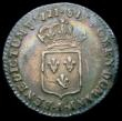 London Coins : A164 : Lot 361 : France 1/12 Ecu 1721 I Limoges Mint, KM#463.7 GVF and nicely toned, show signs of the understruck co...