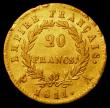 London Coins : A164 : Lot 364 : France 20 Francs Gold 1811A KM#695.1 Good Fine