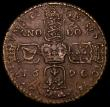 London Coins : A164 : Lot 404 : Ireland Crown 1690 Gunmoney S.6578 Small Lettering, Stop after II, Bar over AN, 16.14 grammes, Timmi...