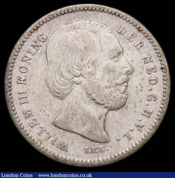 Netherlands 25 Cents 1890 No Dot after Date KM#81 Fine/Good Fine  : World Coins : Auction 164 : Lot 466