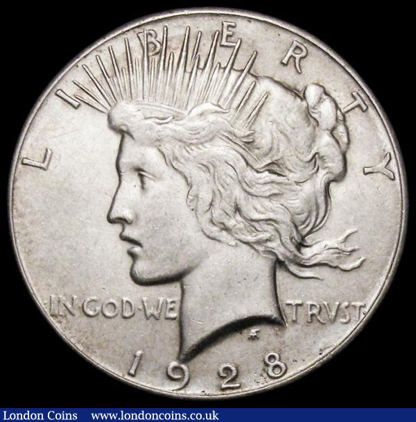 USA Dollar 1928 Breen 5730 NEF with a contact marks behind the eagle's head : World Coins : Auction 164 : Lot 542