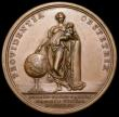 London Coins : A164 : Lot 588 : Birth of Prince Charles 1720 42mm diameter in bronze, by O.Hamerani, Obverse Busts conjoined right, ...