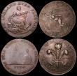 London Coins : A164 : Lot 605 : Halfpennies 19th Century Ireland (3) Dublin (2) 1794 Sugar Loaf and bottle/Hope, edge reads 'Pa...