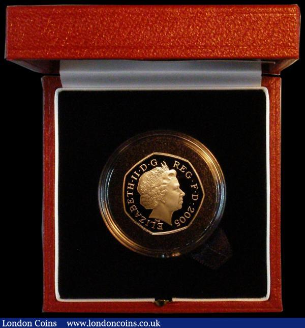 Fifty Pence 2005 250th Anniversary of Samuel Johnson's Dictionary Gold Proof S.H14 nFDC in the Royal Mint box of issue with certificate : English Cased : Auction 164 : Lot 61
