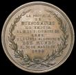 London Coins : A164 : Lot 649 : Argentina Inauguration of the Port La Plata 1883 57mm diameter in bronze by Y.H.Podesta Obverse Sun ...