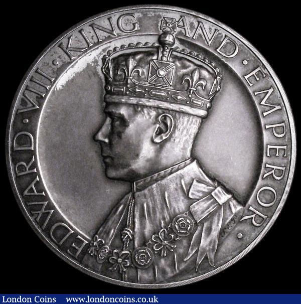 Edward VIII Abdication 1936 51mm diameter in silver by J.Pinches, low relief, CM350C, Obverse Bust left crowned and draped, EDWARD. VIII. KING AND. EMPEROR. Reverse text in 13 lines, BORN 25 JUNE 1894 INVESTED : PRINCE OF WALES : 13 JULY 1911 ASCENDED THE THRONE ~ 20 JANUARY 1936 ~ ABDICATED : 10 DECEMBER 1936 IN FAVOUR OF HIS BROTHER H.R.H. THE DUKE OF YORK THE TITLE OF DUKE OF WINDSOR BEING CONFERRED UPON HIM, stamped 15 S on the edge, UNC or very near so with a pleasing grey tone :  : Auction 164 : Lot 730