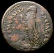 London Coins : A164 : Lot 807 : Egypt Ae30 Ptolemaic 246-222BC Ptolemy III Euergetes Diabol, Obverse Head of Zeus wearing tainia ПT...