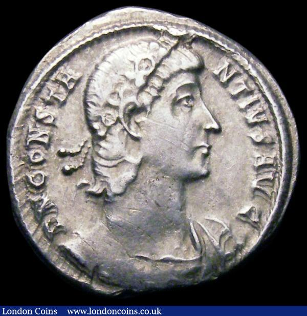 Silver heavy Siliqua Constantius II as Augustus 337-361AD Obverse: Diademed bust right DN CONSTANTIVS AVG, Reverse: FELICITAS REPVBLI CE. VOT XV M VLT XX in wreath Good Fine with some old thin scratches  : Ancient Coins : Auction 164 : Lot 825