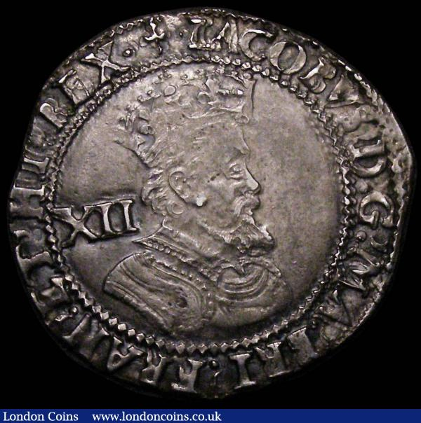 Shilling James I Fifth Bust S.2656 mintmark Trefoil GVF with some double striking, an excellent portrait coin : Hammered Coins : Auction 164 : Lot 861