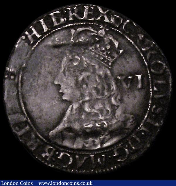 Sixpence Charles II Third Hammered Issue, undated with mark of value and inner circles, ESC 1510, Bull 319, S.3323 mintmark Crown (between stops) Fine, the reverse better, once bent, now re-straightened  : Hammered Coins : Auction 164 : Lot 866