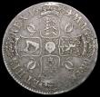 London Coins : A164 : Lot 879 : Crown 1684 ESC 67, Bull 420 pleasing Fine, rare, rated R2 by ESC
