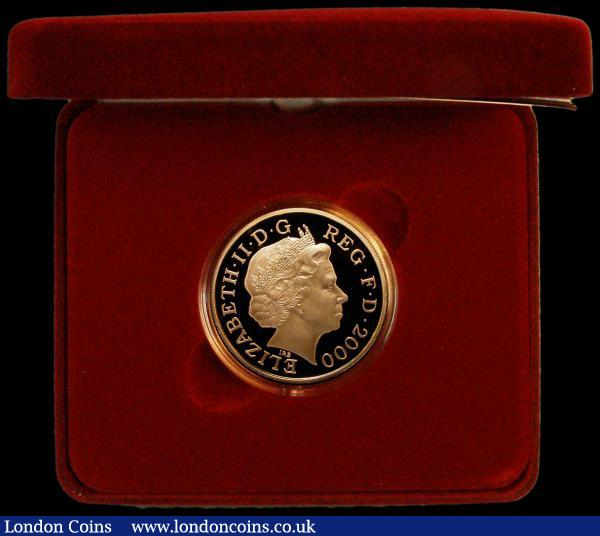Five Pound Crown 2000 Queen Mother 100th Birthday Gold Proof S.L8 FDC in the Royal Mint box of issue with certificate : English Cased : Auction 164 : Lot 91