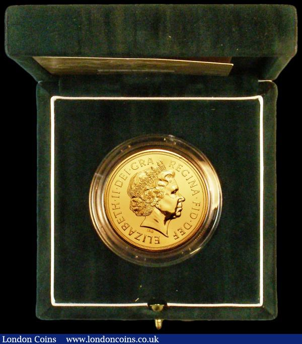 Five Pounds Gold 2004 S.SE7 BU in the green Royal Mint box of issue with certificate : English Cased : Auction 164 : Lot 96