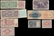London Coins : A165 : Lot 1139 : World, (11) Small Collection of World Notes, Eygpt,Italy, Japan. Including Palestine Currency Board,...