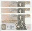 London Coins : A165 : Lot 114 : Fifty Pounds Somerset QE2 pictorial & Sir Christopher Wren B352 issues 1981 (3) a consecutive tr...