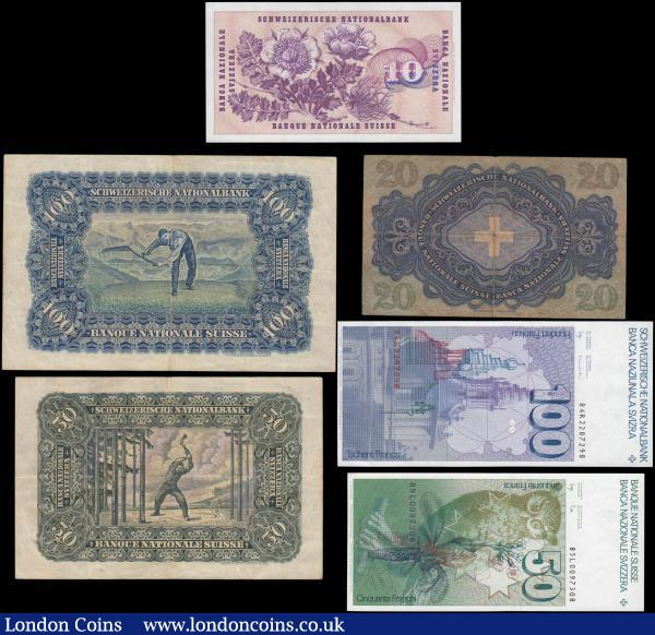 Issue 1932-1936 100 Italian Lire 10 2x 50 4 Banknotes
