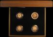 London Coins : A165 : Lot 1594 : One Pound 2010-2011 Gold Proofs a 4-coin set comprising 2010 London S.J28, 2010 Belfast S.J29, 2011 ...