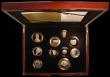 London Coins : A165 : Lot 1618 : Proof Set 2012 The Diamond Jubilee 10-coin set with all coins in gold, comprising Five Pound Crown, ...