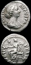 London Coins : A165 : Lot 2037 : Roman Denarii (2) Hadrian (117-138AD) Obverse: Laureate head right HADRIANVS AVG COS III P P, Revers...