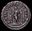 London Coins : A165 : Lot 2064 : Roman Denarius Diadumenian, (218AD) Obverse: Bare head right, draped, M OPEL ANT DIADVMENIAN CAES, R...