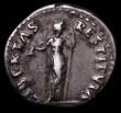 London Coins : A165 : Lot 2083 : Roman Denarius Vitellius (69AD) Obverse: Bust right, laureate, A VITELLIVS GERM IMP AVG TR P, Revers...