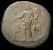 London Coins : A165 : Lot 2104 : Roman Sestertius Commodus 190AD Obverse: Bust right, laureate, M COMMOD ANT P FELIX AVG BRIT PP, Rev...