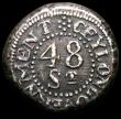 London Coins : A165 : Lot 2141 : Ceylon 48 Stivers 1808 KM#77 Good Fine and bold, struck slightly off-centre as often