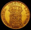 London Coins : A165 : Lot 2145 : Colombia 4 Escudos Gold 1757S Bogota Mint KM#31.1 Good Fine