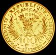 London Coins : A165 : Lot 2152 : France 100 Francs 1984 50th Anniversary of the Death of Marie Curie Gold Proof  KM#955b nFDC with so...
