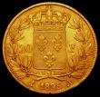 London Coins : A165 : Lot 2158 : France 20 Francs Gold 1825A KM#726.1 Good Fine