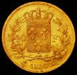 London Coins : A165 : Lot 2167 : France 40 Francs Gold 1830A KM#721.1 VF with some contact marks