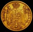 London Coins : A165 : Lot 2211 : Italian States - Kingdom of Napoleon 20 Lire Gold 1813M KM#11 Fine/Good Fine
